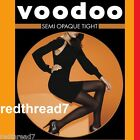 Voodoo New Ladies Sexy Semi Opaque 50 D Black Tight Tights Size Ave Tall  Xtall