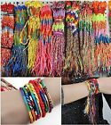 Hot SEELL 5PCS Jewelry lot Colorful Braid Friendship Cords Strands Bracelet PICK