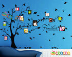 """Wall Decal Sticker Removable Photo Frame Tree With Family Quote 39""""H x 80""""W"""