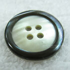 12pcs Trakas/Smoky Cutting Luxury Real Shell & Clam button 4H (TR/SM)