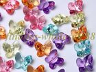 Fashion 100pcs Multicolored Acrylic Faceted Butterfly Spacer Beads 10*9mm