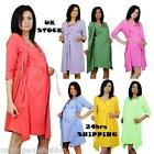 Maternity Pregnancy Set Nightdress and  BATHROBE Robe 3/4 Sleeve size 8 10 12 14