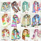 1pcs Lovely Girl's 100% Silk Abstact Animal Long Scarf/Shawl/Wrap Free Style
