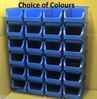 Size 2 Quality Plastic Storage Stacking Bins Bin Red Blue Grey Green