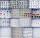 HOT sell Wholesale Jewellery Lots Mixed Crystal Plastic studs Earrings Display
