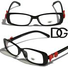 NEW DG Womens Bowtie Fashion Designer Eye-glasses clear lens Frame Rectangle sun