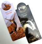 Wildlife Magnetic BOOKMARKS Badger, Hedgehog, Red Deer, Harvest Mouse