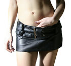 Sexy Butter Soft Womans LAMBS LEATHER MINI SKIRT & BELT  All Sizes