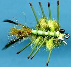D's Olive Mini Reef Crab Saltwater Fly Fishing Flies - One Fly in Choice of Size