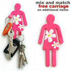 Pink lady flexible magnetic hook. Hang tea towels, keys. New kitchen, magenta