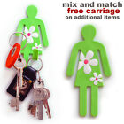 Green lady flexible magnetic hook. Hang tea towels, keys. New kitchen,