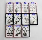 1 pair High Quality Stainless Steel Key Chain Valentine's Day Lover Gift