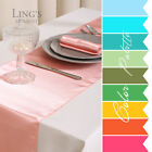 "12"" x 108"" Colors Satin Table Runner Wedding Decoration"