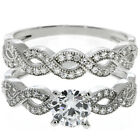2.50 Ct Round White Cubic Zirconia CZ 925 Sterling Silver Engagement Set