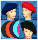 FRENCH BERET HAT CAP MENS LADIES RED BLACK NAVY BLUE FANCY DRESS FRANK SPENCER