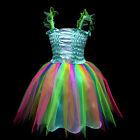 Blue b004 UsaG gi9 Toddler X'mas Party Dance Tutu Skirt Baby Girls Dress 1-9 y