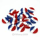 100PCS Blue Red White Acrylic Sewing Buttons Scrapbooking Findings 10MM