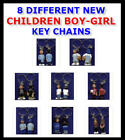 MIJOS BOY GIRL CHILDREN FIGURE -  KEY CHAIN BACKPACK ZIPPER PULL - YOU PICK ONE!