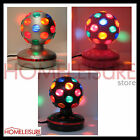 "Rotating Light Up Disco Ball Party Lighting 5"" Black Pink Silver NEW"