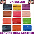 GENUINE REAL LEATHER WALLETS CREDIT CARD HOLDER ID BUSINESS CASE PURSE 26 CARDS