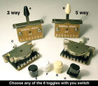 Top quality 3 Way & 5 way Lever Selector Switch & choice of toggle