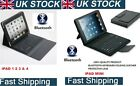 GENUINE PU LEATHER  NEW APPLE iPAD CASE COVER AND WIRELESS BLUETOOTH KEYBOARD