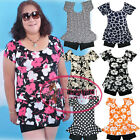 Plus Size Floral Polka Dot Short Sleeves One Piece Padded  Bathing Suit UW393
