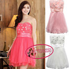 Royal Princess Sequin Roses Mini Cocktail Bridesmaid Prom Frock Dress UJ9100