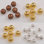 Gold/Silver/Copper Plated Round Ball Spacer Bead 4/6/8/10mm Finding Charms HOT