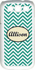 Monogrammed Teal Blue Chevron Design Samsung Galaxy S3 Case Cover