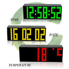 Large Big Screen Led Digital Wall Clock Table Alarm Watch Thermometer Snooze New
