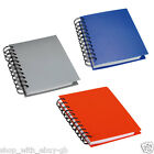 A6 Wire Spiral Wirebound Hardback Notebook NotePad Note Book Pad 80 Plain Pages