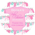 1xA4 Sheet Personalised BABY SHOWER PARTY bags favours stickers labels babygro P
