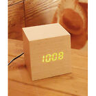 Mini Wooden Clock. LED Alarm Clock. Orange LED. White Oak / Red Sandalwood