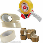 PARCEL TAPE&DISPENSER 48MM X 40M PARCEL BROWN BUFF CLEAR MASKING DUCT DUCK GAFFA