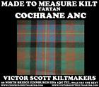 COCHRANE ANC TARTAN KILT 100% WOOL KILT MADE TO MEASURE MADE IN SCOTLAND