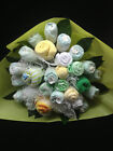 Beautiful Baby Bouquet Shower Birth Present Maternity Socks, Wrap, Bibs, Washers