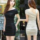 New Women's Elegant Sleeveless slim Fold Evening Cocktail Party Mini Dress