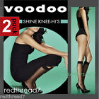 Voodoo New 2 Pair Pack Sheer Shine Knee Hi Stockings Socks One Size Black Nude