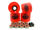 Blank 65mm Longboard Cruiser Multi Clear Color Wheels + ABEC 7 Bearing + Spacers