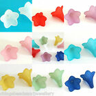 30 Frosted Acrylic Lucite Trumpet Flower Beads 23mm Jewellery Making