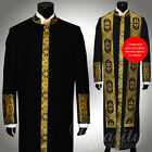 Clergy Robe Cadillac Black Gold All Sizes Cassock Royalty Cross Embroidery