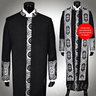Clergy Robe Cadillac Black Silver All Sizes Cassock Royalty Cross Embroidery