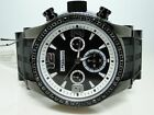 Mens Jojo Jojino Joe Rodeo Black Diamond Rubber Band Watch 2.0 Ct