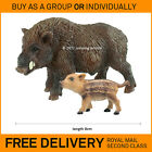 New BULLYLAND solid plastic toy animal figures ADULT WILD BOAR & PIGLET 64394