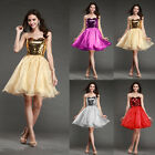 Chiffon Evening Skirt Prom Ball Gown Party Cocktail Women Dresses Mini Wedding
