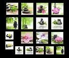GLASBILD DEKO WAND BILD DECO GLASS FLOAT GLAS FENG SHUI ZEN WELLNESS ENTSPANNUNG