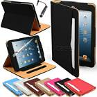 Apple iPad mini Luxury Document Wallet Leather Smart Case Cover Auto Sleep Wake
