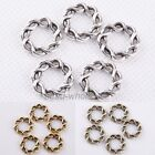 30Pcs Tibetan Silver Round Twine Shaped Ring Findings For Craft
