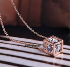 18K Rose Gold Gp Swarovski Crystal In Box Beautiful Cute Necklace BR936